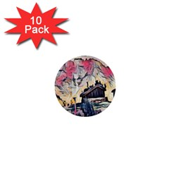 Modern Abstract Painting 1  Mini Buttons (10 Pack)  by 8fugoso