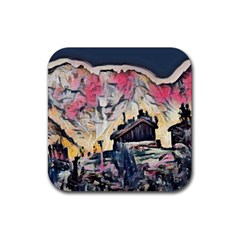 Modern Abstract Painting Rubber Square Coaster (4 Pack)  by 8fugoso