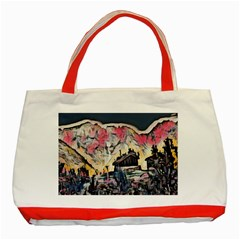 Modern Abstract Painting Classic Tote Bag (red) by 8fugoso