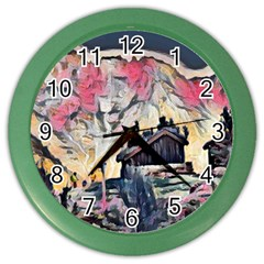 Modern Abstract Painting Color Wall Clocks by 8fugoso