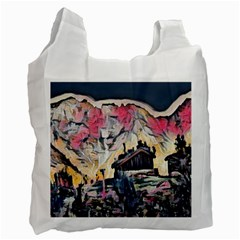 Modern Abstract Painting Recycle Bag (two Side)  by 8fugoso