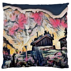 Modern Abstract Painting Large Cushion Case (one Side) by 8fugoso