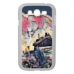 Modern Abstract Painting Samsung Galaxy Grand Duos I9082 Case (white) by 8fugoso