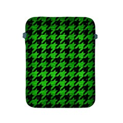 Houndstooth1 Black Marble & Green Brushed Metal Apple Ipad 2/3/4 Protective Soft Cases by trendistuff