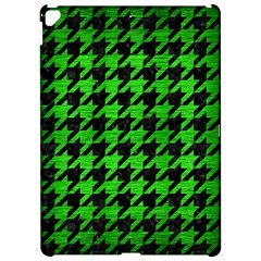 Houndstooth1 Black Marble & Green Brushed Metal Apple Ipad Pro 12 9   Hardshell Case by trendistuff