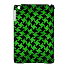 Houndstooth2 Black Marble & Green Brushed Metal Apple Ipad Mini Hardshell Case (compatible With Smart Cover) by trendistuff