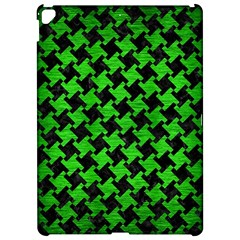 Houndstooth2 Black Marble & Green Brushed Metal Apple Ipad Pro 12 9   Hardshell Case by trendistuff