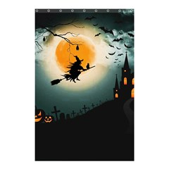 Halloween Landscape Shower Curtain 48  X 72  (small)  by Valentinaart