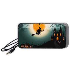 Halloween Landscape Portable Speaker