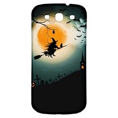 Halloween Landscape Samsung Galaxy S3 S Iii Classic Hardshell Back Case by Valentinaart