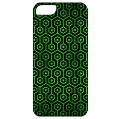 Hexagon1 Black Marble & Green Brushed Metal Apple Iphone 5 Classic Hardshell Case by trendistuff
