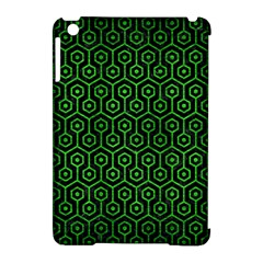 Hexagon1 Black Marble & Green Brushed Metal Apple Ipad Mini Hardshell Case (compatible With Smart Cover) by trendistuff