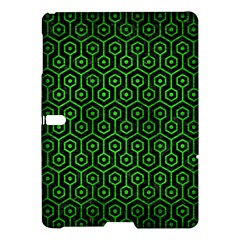 Hexagon1 Black Marble & Green Brushed Metal Samsung Galaxy Tab S (10 5 ) Hardshell Case  by trendistuff