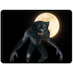 Werewolf Fleece Blanket (large)  by Valentinaart