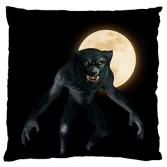 Werewolf Large Flano Cushion Case (one Side) by Valentinaart