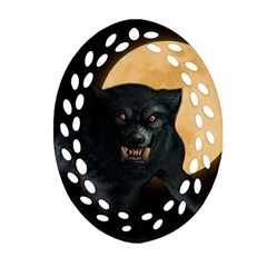 Werewolf Oval Filigree Ornament (two Sides) by Valentinaart