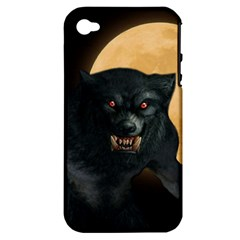 Werewolf Apple Iphone 4/4s Hardshell Case (pc+silicone)