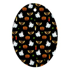 Halloween Pattern Oval Ornament (two Sides) by Valentinaart