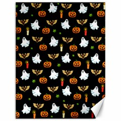 Halloween Pattern Canvas 12  X 16   by Valentinaart