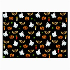 Halloween Pattern Large Glasses Cloth by Valentinaart