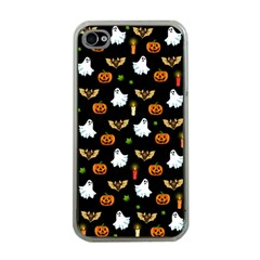 Halloween Pattern Apple Iphone 4 Case (clear) by Valentinaart