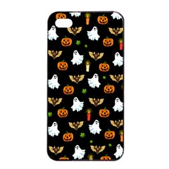 Halloween Pattern Apple Iphone 4/4s Seamless Case (black) by Valentinaart