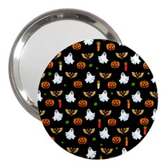 Halloween Pattern 3  Handbag Mirrors by Valentinaart