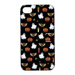 Halloween Pattern Apple Iphone 4/4s Hardshell Case With Stand by Valentinaart