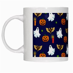 Halloween Pattern White Mugs