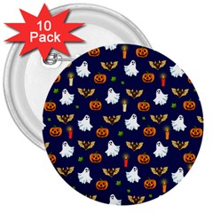 Halloween Pattern 3  Buttons (10 Pack)  by Valentinaart