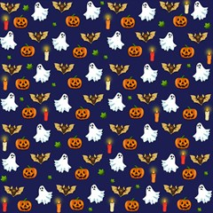 Halloween Pattern Magic Photo Cubes by Valentinaart
