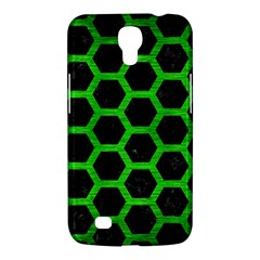 Hexagon2 Black Marble & Green Brushed Metal Samsung Galaxy Mega 6 3  I9200 Hardshell Case by trendistuff