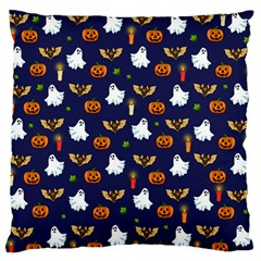 Halloween Pattern Large Flano Cushion Case (one Side) by Valentinaart