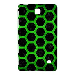 Hexagon2 Black Marble & Green Brushed Metal Samsung Galaxy Tab 4 (8 ) Hardshell Case  by trendistuff