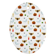 Halloween Pattern Ornament (oval) by Valentinaart