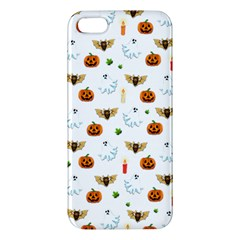 Halloween Pattern Apple Iphone 5 Premium Hardshell Case by Valentinaart