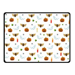 Halloween Pattern Double Sided Fleece Blanket (small)
