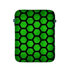 Hexagon2 Black Marble & Green Brushed Metal (r) Apple Ipad 2/3/4 Protective Soft Cases by trendistuff