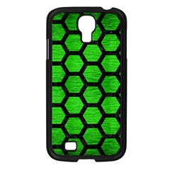 Hexagon2 Black Marble & Green Brushed Metal (r) Samsung Galaxy S4 I9500/ I9505 Case (black) by trendistuff