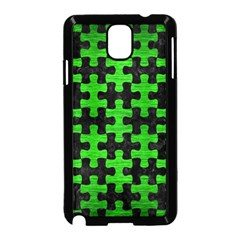 Puzzle1 Black Marble & Green Brushed Metal Samsung Galaxy Note 3 Neo Hardshell Case (black) by trendistuff