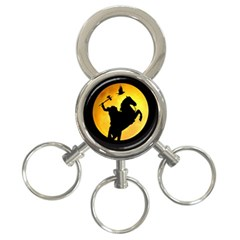 Headless Horseman 3 Ring Key Chains by Valentinaart