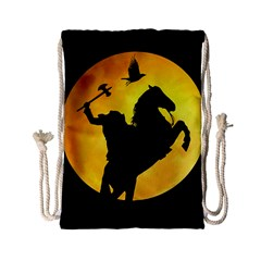 Headless Horseman Drawstring Bag (small) by Valentinaart