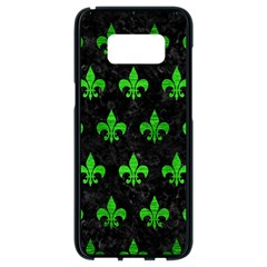 Royal1 Black Marble & Green Brushed Metal (r) Samsung Galaxy S8 Black Seamless Case by trendistuff