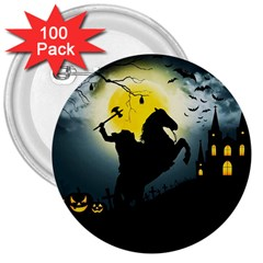 Headless Horseman 3  Buttons (100 Pack)  by Valentinaart