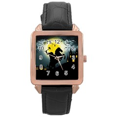 Headless Horseman Rose Gold Leather Watch