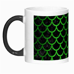 Scales1 Black Marble & Green Brushed Metal Morph Mugs by trendistuff