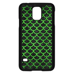 Scales1 Black Marble & Green Brushed Metal Samsung Galaxy S5 Case (black) by trendistuff