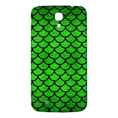 Scales1 Black Marble & Green Brushed Metal (r) Samsung Galaxy Mega I9200 Hardshell Back Case by trendistuff
