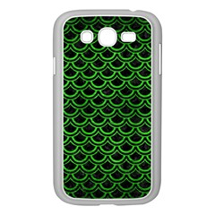 Scales2 Black Marble & Green Brushed Metal Samsung Galaxy Grand Duos I9082 Case (white) by trendistuff
