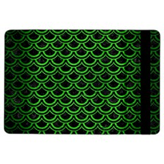 Scales2 Black Marble & Green Brushed Metal Ipad Air 2 Flip by trendistuff